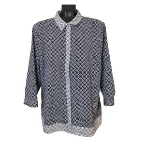 Alfred Sung   Patterened 3/4 Sleeve Blouse
